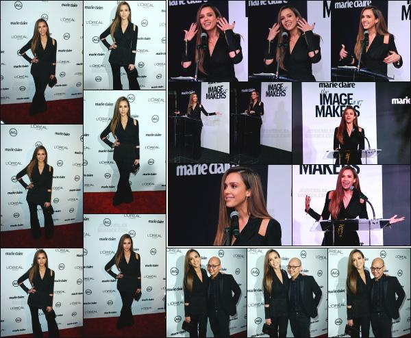 - 10.01.17 ─ La ravissante Jessica Alba assistait au « Marie Claire's Image Maker Awards 2017 » dans Los Angeles ! [/s#00000ize]Jessica A. assite donc a son premier event de la nouvelle année, et c'est vraiment très souriante que nous la retrouvons. Un très jolie top pour l'ensemble.  -