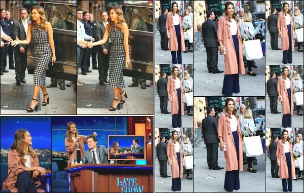 - 08.09.16 ─ Jessica' Alba est photographiée alors qu'elle se rendait sur le plateau « The Late Show » à New York ![/s#00000ize]Jessica enchaîne les studio de télévision en ce premier jour à New York ! Elle a aussi été photographiée alors qu'elle quittait le studio de Stephen Colbert!  -
