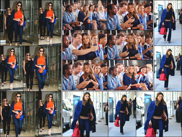- 13.09.16 ─ La ravissante Jess' est photographiée, quittant l'hôtel « Edition » dans le quartier de Soho à New York ![/s#00000ize]Nous l'avons ensuite vue, assistant au défilé Tory Burch, puis plus tard, rejoindre de nouveaux son hôtel dans le quartier de Soho... Un très beau top ! -