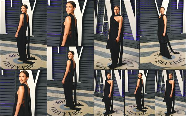 - 24.02.19 ─ Notre Jessica Alba était présente à la soirée des Oscars de « Vanity Fair » qui se passait à Los Angeles[/s#00000ize]Jessica  était vraiment ravissante lors de cette soirée, en compagnie de son mari.  Le make up est réussi et la tenue qu'elle porte lui va parfaitement bien ! -