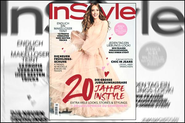 """"""" • La belle Jessica Alba fait la couverture du magazine « Instyle » du mois de mai '19 !  -"""