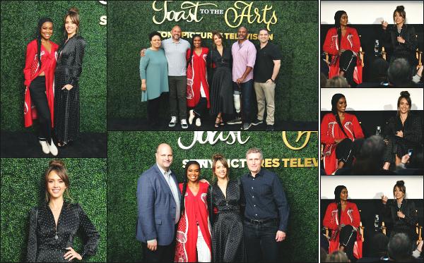 - 04.05.19 ─  Jessica A. était au « Sony Pictures Television's Emmy FYC Event 2019 Toast to the Arts » à Los Angeles[/s#00000ize]Jessica à participé à l'évènement au côté de Gabrielle Union, sa co-star dans la série LA's Finest qui sortira le 13 mai prochain. Une tenue sympa, un top !   -