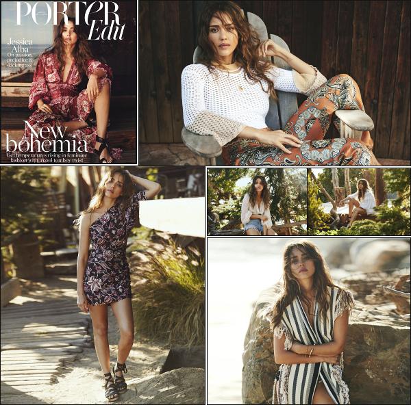 """"""" • Découvrez la ravissante Jessica Alba qui fait la couverture du « Porter Magazine »   -"""