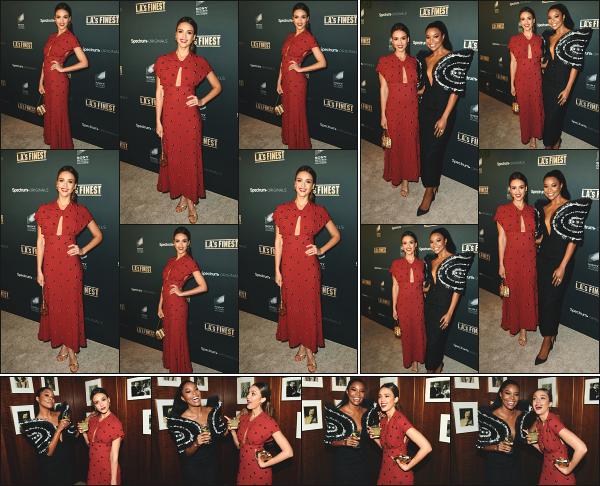 - 10.05.19 ─  Jessica Alba était à la première de la série « L.A's Finest » qui se déroulait du côté de West Hollywood.[/s#00000ize]Jess démarre donc la promo de la série dont le premier épisode est prévue pour le 13 mai. Elle était évidemment au côté de Gabrielle Union, entre autre.   -