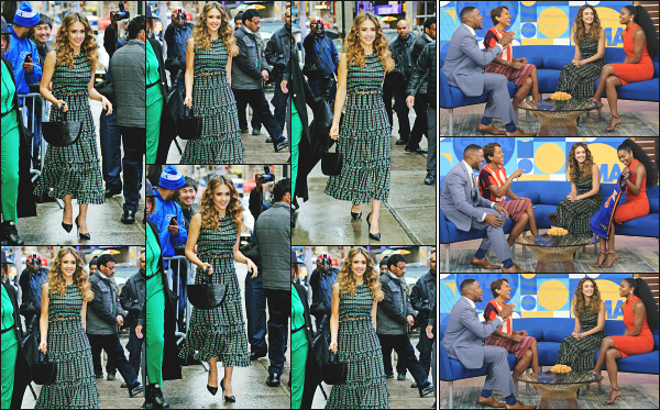 - 13.05.19 ─ La belle  Jessica' Alba est photographiée devant les locaux du « Good Morning America » à New York ![/s#00000ize]Jessica est en pleine promo pour la sortie de sa nouvelle série L'A's Finest, au côté de Gabrielle Union qui joue un rôle à ses côtés. Pas fan du look ! Flop. -