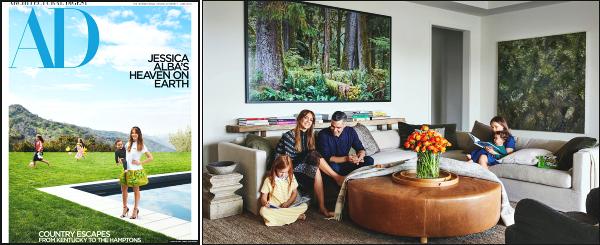 """"""" • Jess' Alba présente sa nouvelle maison dans le magazine  « Architectural Digest »   -"""