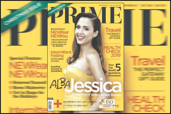 """"""" • Jessica Alba fait la couverture du magazine « PRIME » du mois de décembre '18 !  -"""