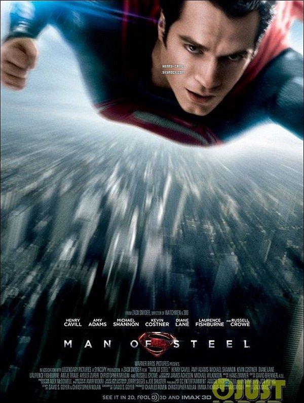 . Découvre la bande annonce et l'affiche de « Superman, Man of Steel » avec Henry   .