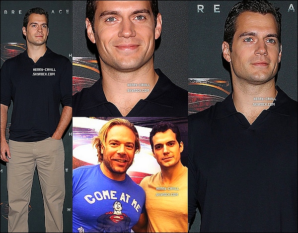 . 7/06/2013 : Henry a fait un photocall pour la promo de « Superman Man Of Steel» a l'hôtel St Regis a Mexico (Mexique)   .