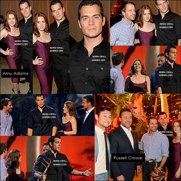 . 8/06/2013 : Henry Cavill et Amy Adams étaient au «  Spike TV Guys Choice Awards 2013» a Culver City (Californie)   .