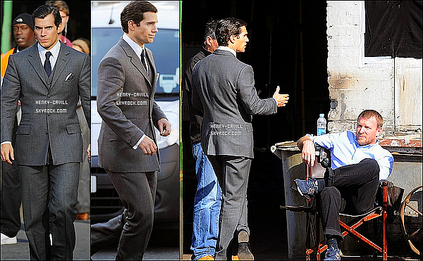 "19/09/2013 :  Henry était  sur le tournage de  ""The Man from Uncle"" à Londres (Angleterre)  - 1ères photos !"