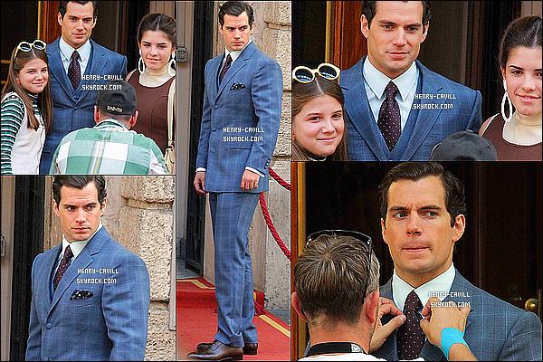 3/10/2013 : Henry Cavill a été vu toujours sur le tournage  « The Man From Uncle» à Rome en Italie