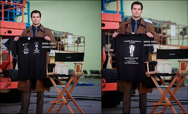 Découvre des photos de Henry sur le tournage de Batman vs Superman : Dawn of Justice