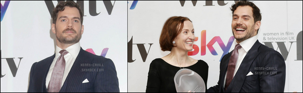 """. 01.12.2017 : Henry Cavill était à la """"annual award ceremony"""" qui s'est déroulé au London Hilton à Londres ."""