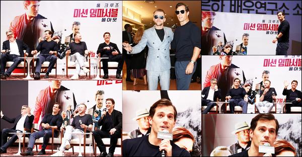 . 17.07.2018 : Henry était toujours à Séoul, en Corée du Sud pour la promo du film « Mission Impossible Fallout »  .