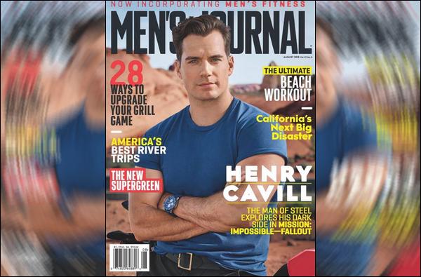 .  Henry Cavill pose pour le magazine « MEN'S JOURNAL » , d'Août 2018 .