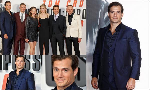 """. 13.07.2018 : Henry continue la promo de son nouveau film """"Mission Impossible Fallout"""" à Londres  ."""