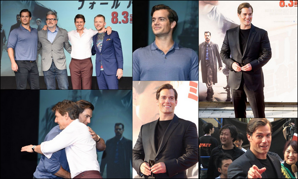 . 18.07.2018 : Henry et le cast du film « Mission Impossible Fallout » sont arrivés à Tokyo au Japon pour la promo  .