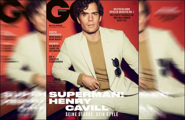Henry Cavill fera la couverture du magazine « GQ Allemagne » de Février 2019