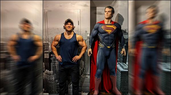 03.02.2019 :Henry Cavill qui se fait plutôt rare en ce moment a posé a côté d'une statue de « Superman »   Henry Cavill nous fait partager sur son instagram officiel son corps de rêve et sa parfaite musculature pour notre bonheur