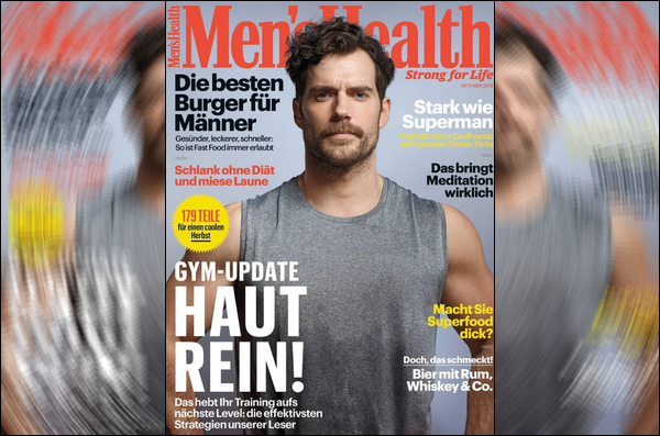 Henry fera la couverture du magazine  « MEN HEALTH »  Allemagne d'Octobre 2018