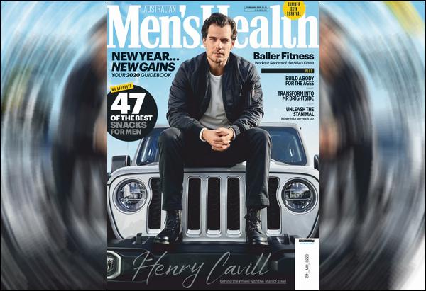 Henry fait la couverture du magazine  « Men's Health Australia » de Février 2020