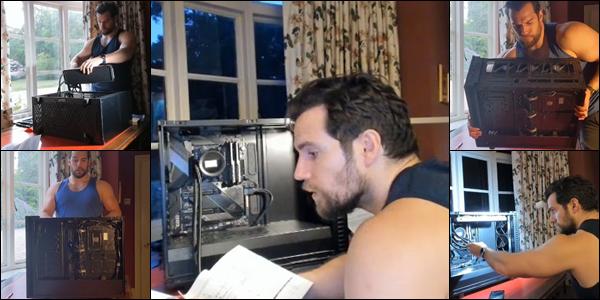 ● 16/07/2020 : Henry a fait le buzz en faisant une vidéo sur instagram sur comment monter un ordinateur  Visiblement en cette période de confinement et de coronavirus Henry Cavill semble s'ennuyer, mais il est trop beau