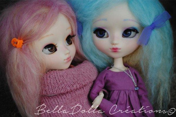 Prune et Clémentine, deux soeurs toute douce et tendre... série Cotton Candy