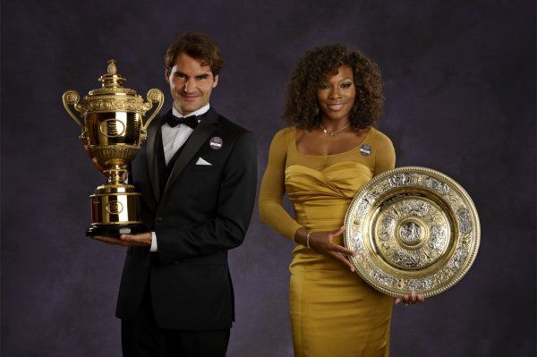 couple a  wimbledon  2012  R. federer et  S. williams