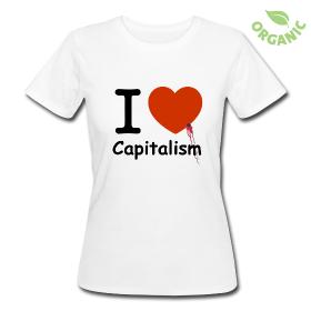"""T-shirt bio Femme """"I Love Capitalism"""""""