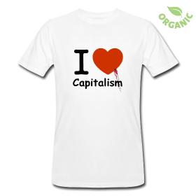 "T-shirt Bio Homme ""I love Capitalism"""