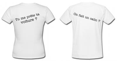 "T-shirt couple (Femme)""moi aussi"""