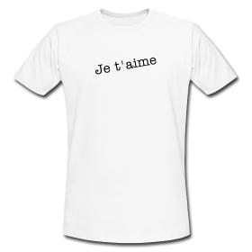 """T-shirt couple (Homme) """"Je t'aime"""""""