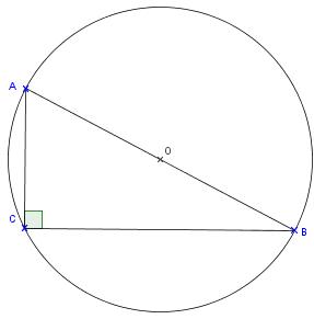 Cercle circonscrit à un triangle rectangle