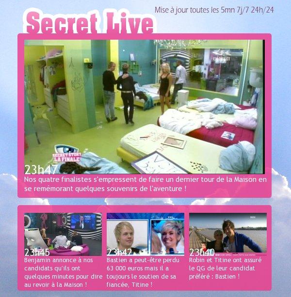 Suivez le Secret Live ici !