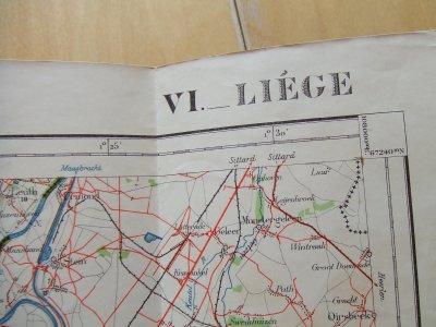 carte militaire liege 1938