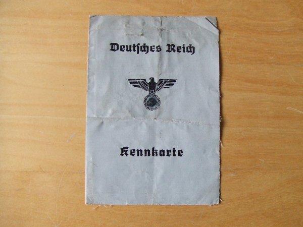 KENNKARTE ALLEMANDE WW2