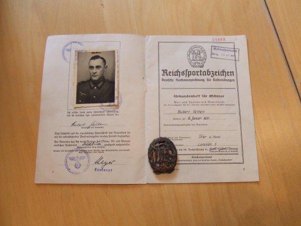 DRL SPORTABZEICHEN + DIPLOME WW2