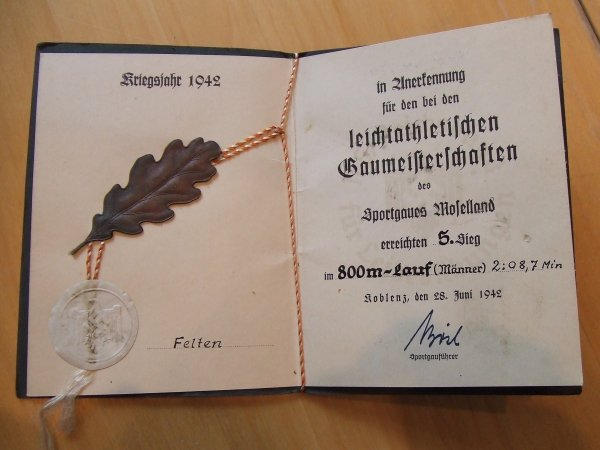 DIPLOME ALLEMAND WW2
