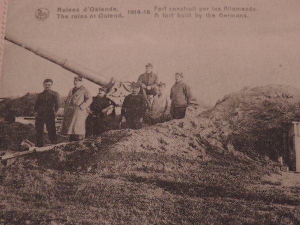 BATTERIE COTIERE ALLEMANDE OSTENDE WW1