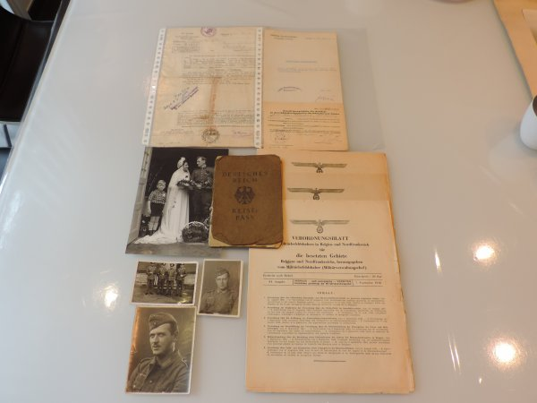 LOT PAPIERS ALLEMANDS WW2