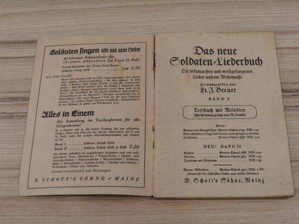 LIVRET DE CHANT SOLDAT ALLEMAND WW2