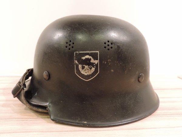 CASQUE POLIZEI M34 DOUBLE INSIGNE ALLEMAND WW2