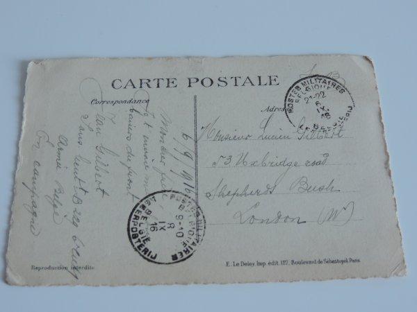 CARTE POSTALE LIEGE WW1