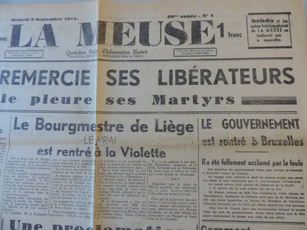 LA MEUSE ET LA GAZETTE DE LIEGE WW2