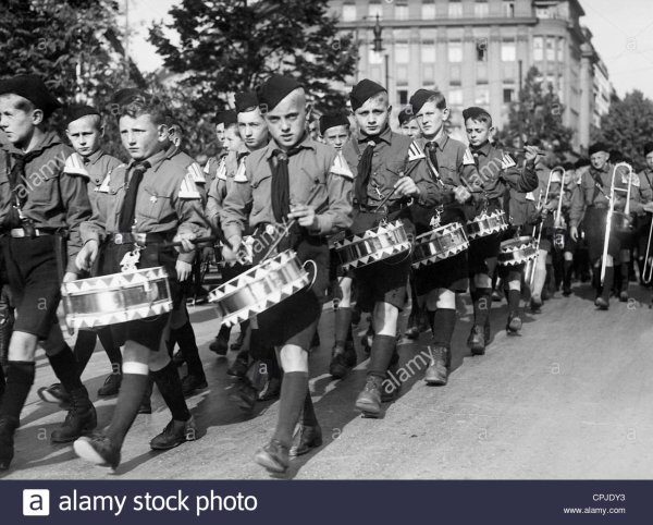 TAMBOUR HJ TROMMEL ALLEMAND WW2