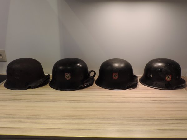 CASQUES POLIZEI M34 ALLEMAND WW2