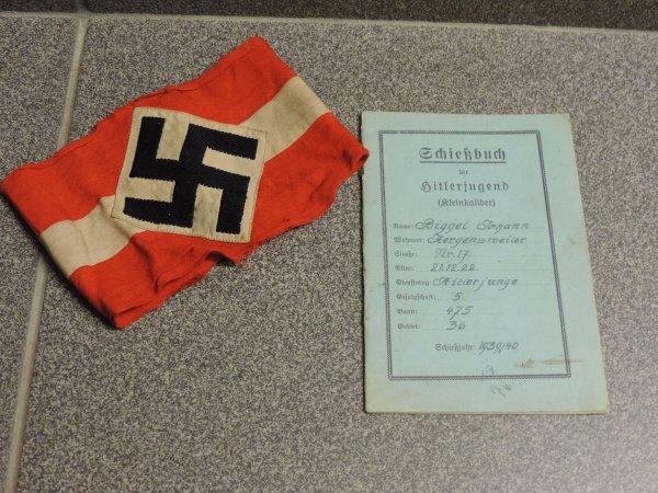 CARNET DE TIR HITLERJUGEND ALLEMAND WW2