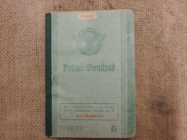LIVRET POLIZEI ALLEMAND WW2