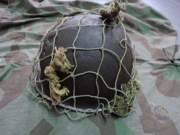 FILET CAMOUFLAGE CASQUE USM1 WW2
